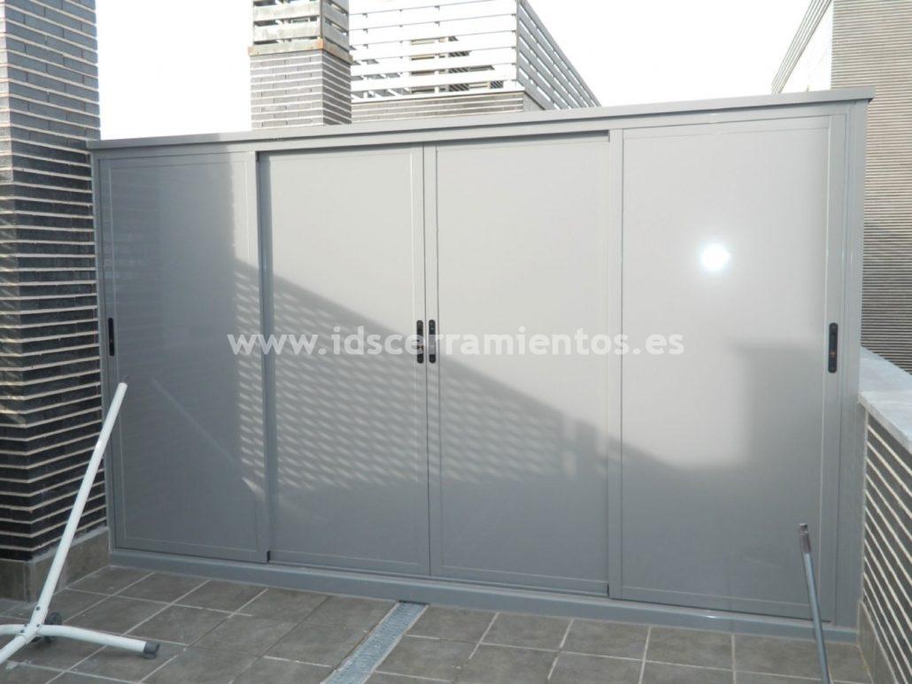 Ids cerramientos fijos carpinter a de aluminio for Armarios para exterior